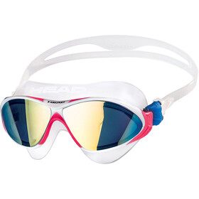 Head Horizon Mirrored Lunettes de natation, clear/white/magenta/blue